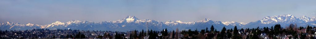 Olympic Mountains Panorama