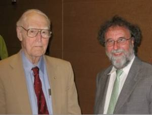 Prof. Robert Fleagle (left) and the first holder of the fellowship Dr. Robert Watson (right).