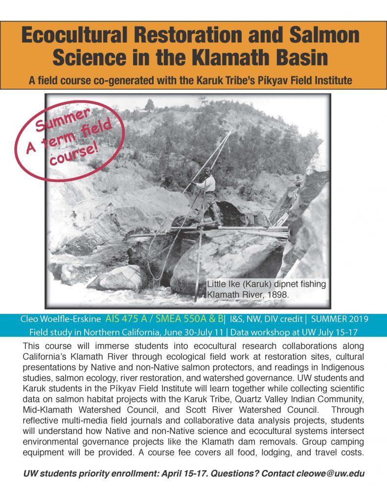 Ecocultural Restoration class flyer