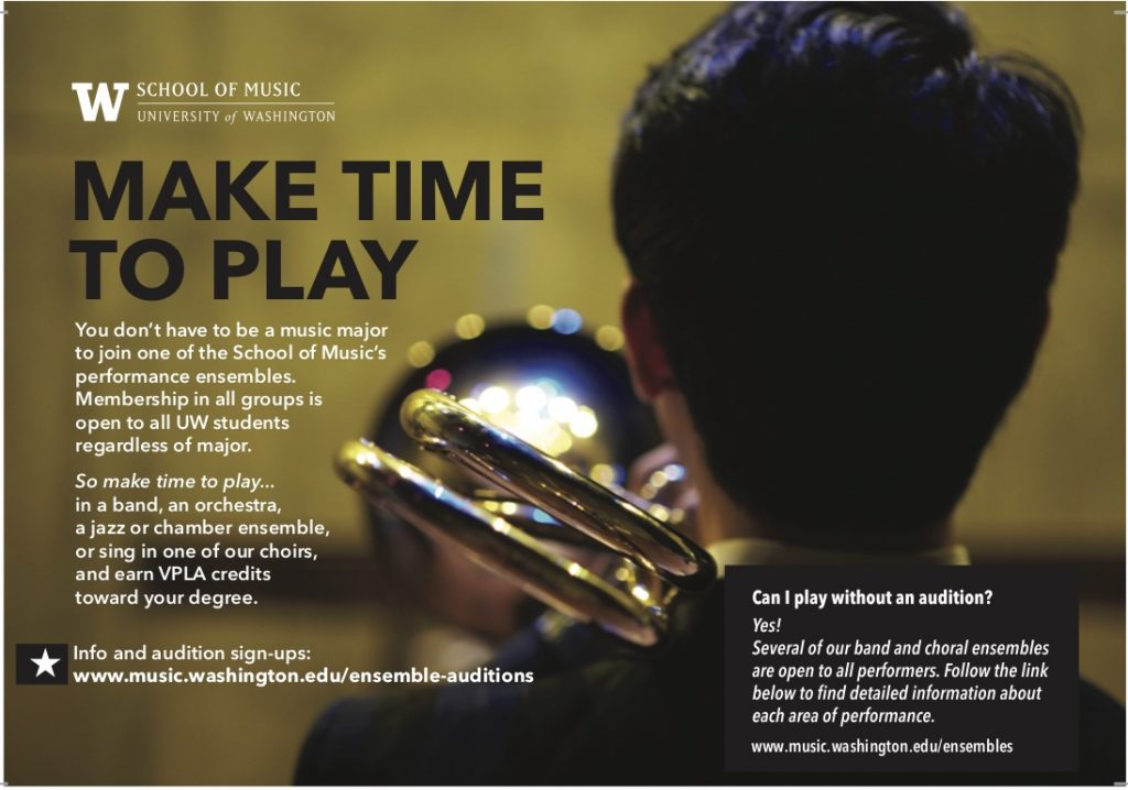 make time to play in music ensembles at UW