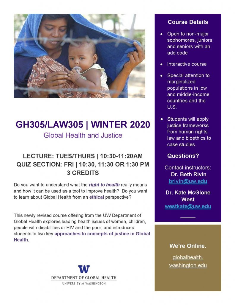 GH 305/Law 305 Course Flier