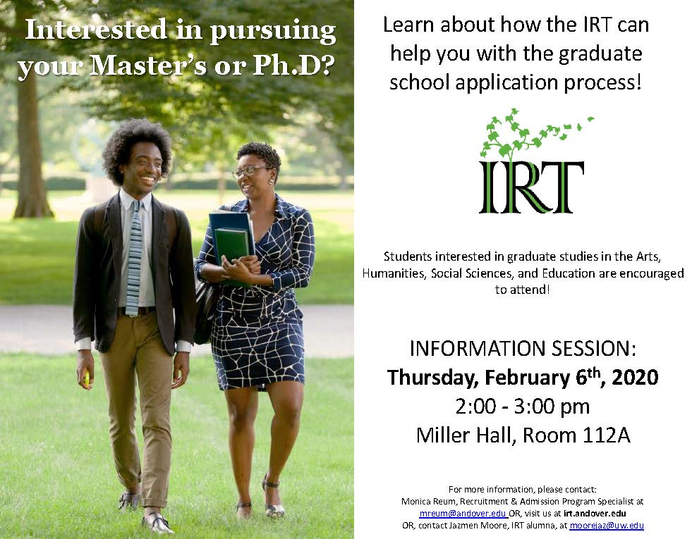 IRT Campus Info Session Poster
