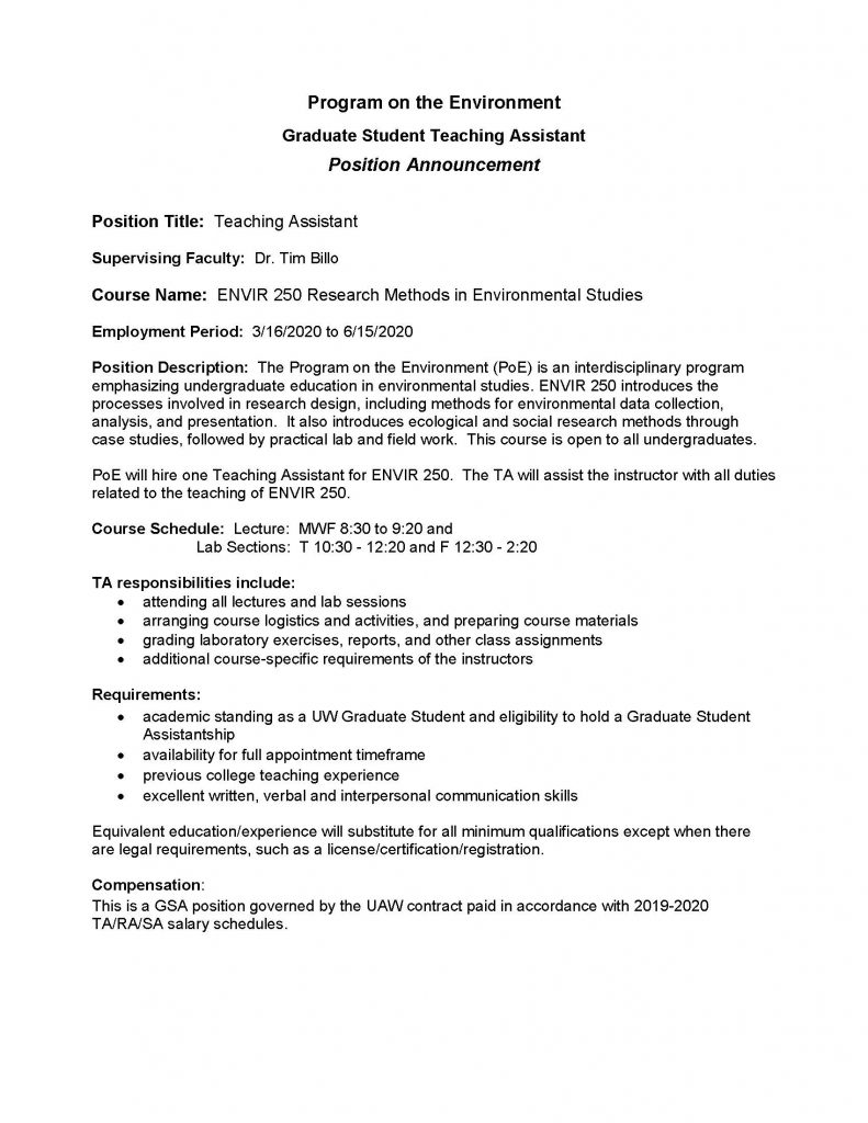 TA Position Announcement ENVIR 250 SPR 2020_Page_1