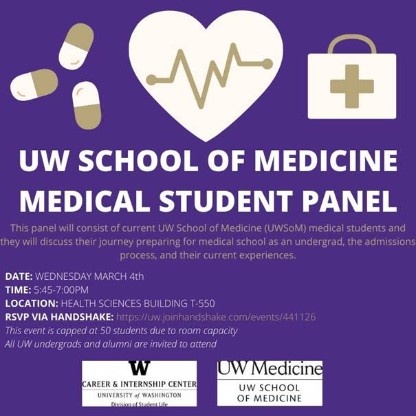 UW Medical Student Panel Flyer