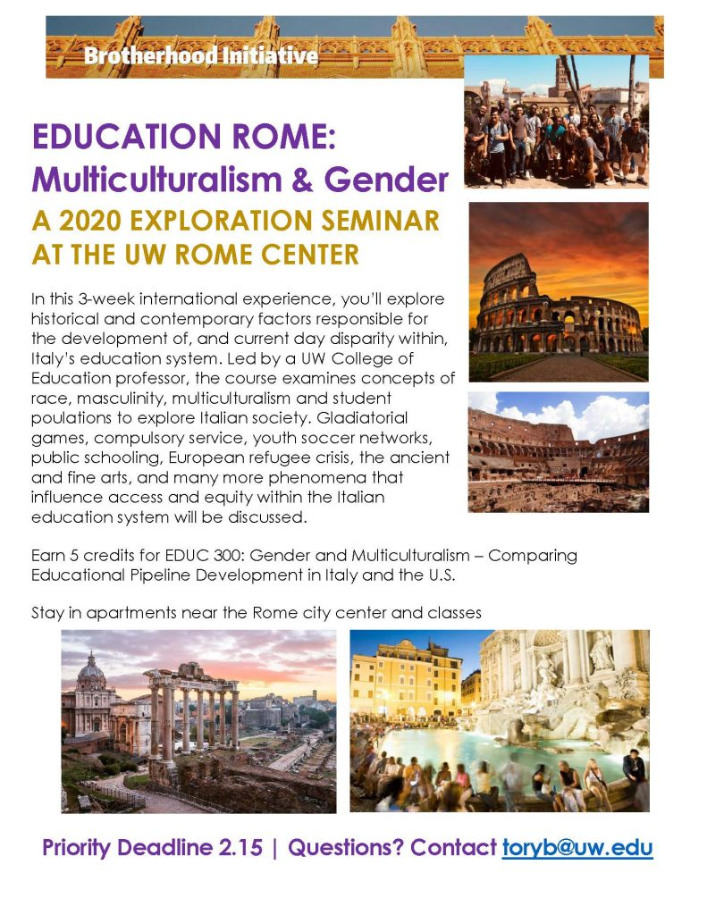 Education Rome 2020 Flyer
