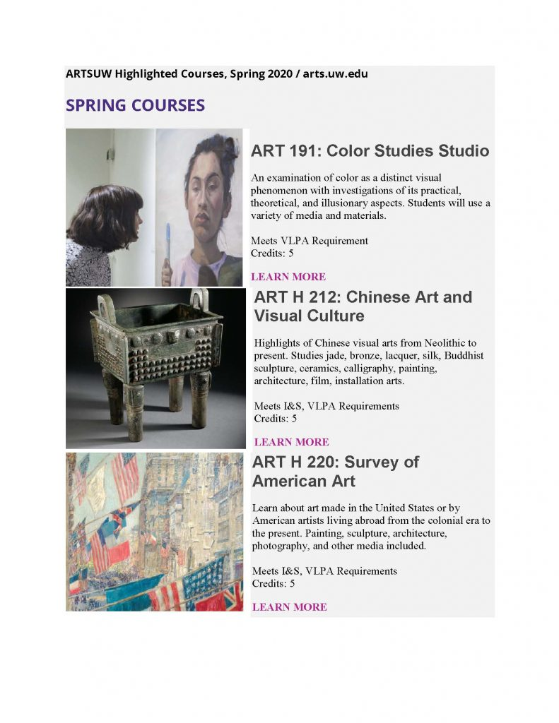 Spring Courses flyer page 1