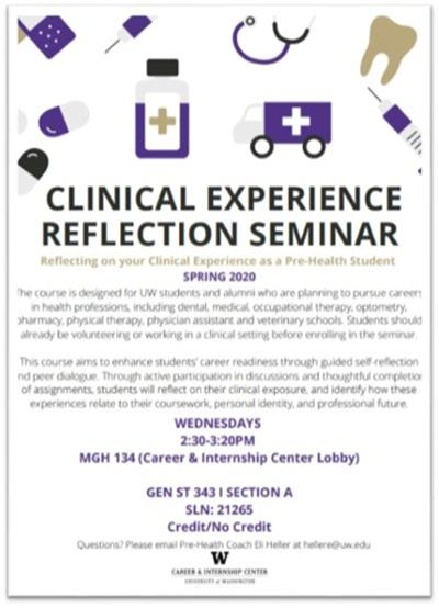 Clinical Experience Reflection Seminar Poster
