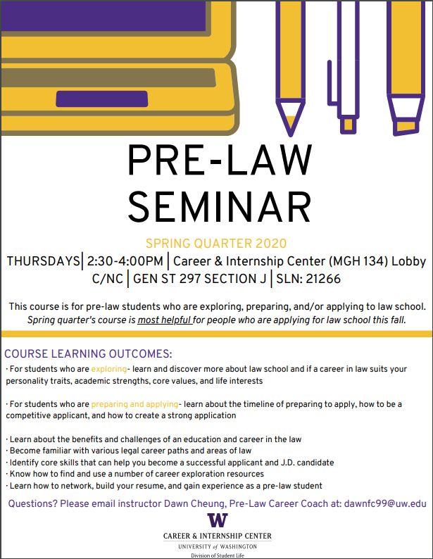 Pre-Law Seminar Poster