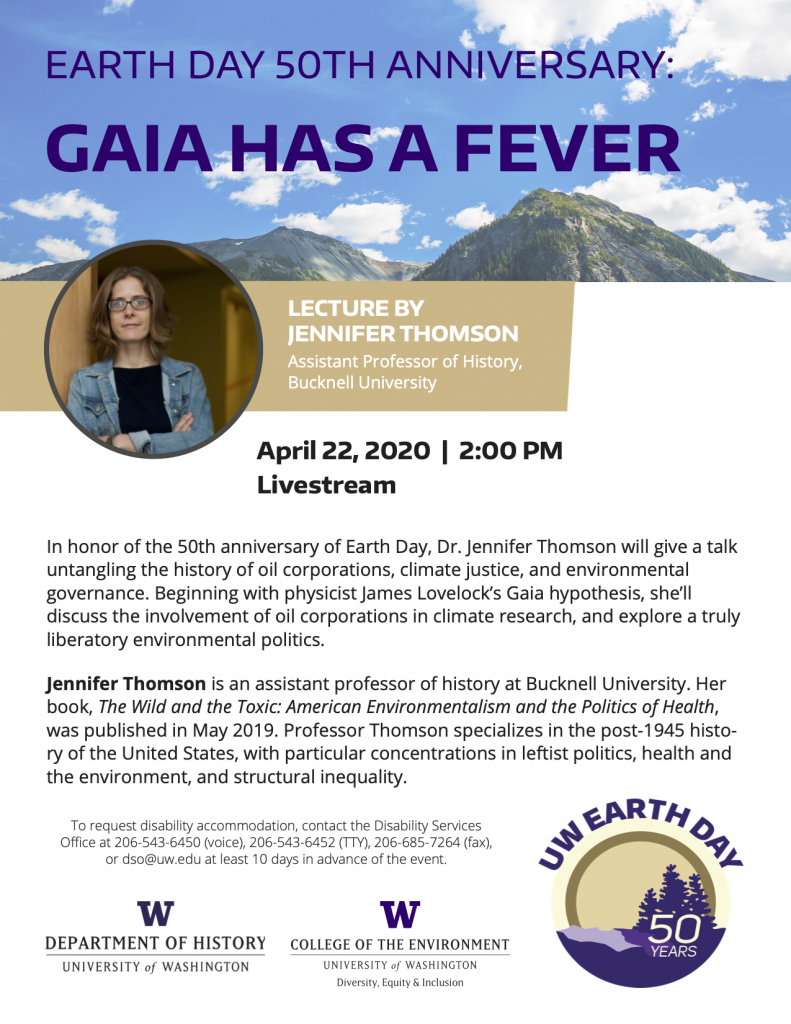 Thomson Earth Day lecture April 2020