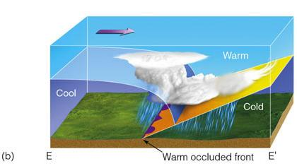 Occluded Front Diagram cold and warm occluded...